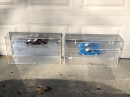 Model Diecast Display Case 1:18th Scale 6 Car Horizontal