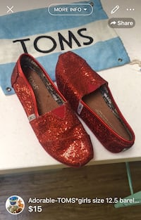 Adorable-TOMS*girls size 12.5 barely used London, N5W 6E2
