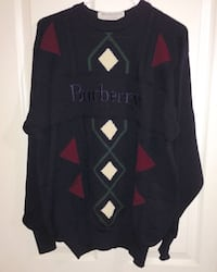 Vintage Burberry knit embroidered sweater size large