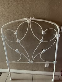 Rod iron white headboard twin