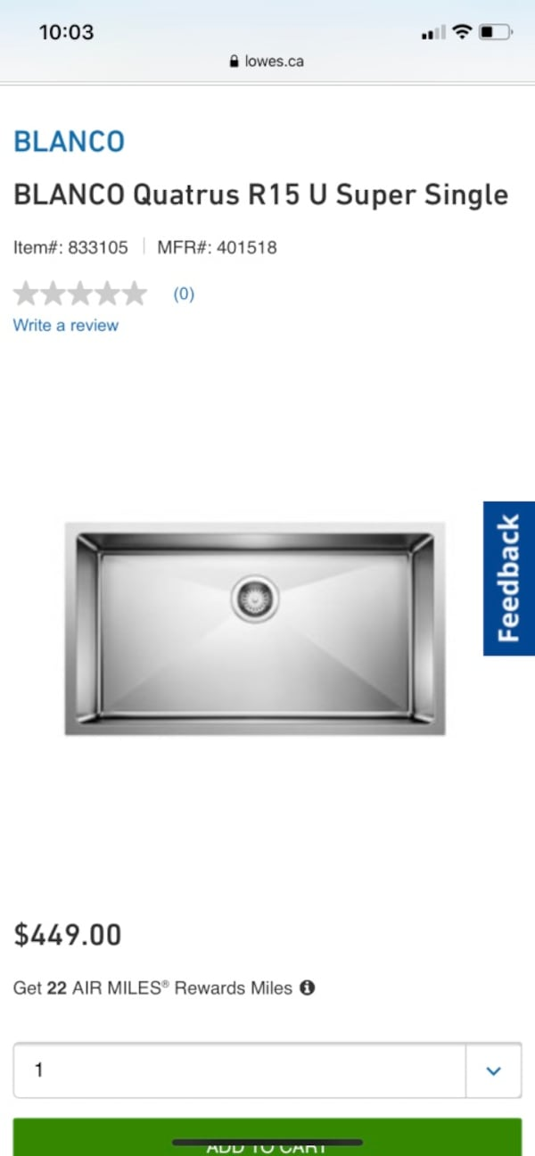Blanco Kitchen Sink BNIB  2