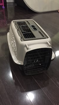 Small pet carrier - beige and brown