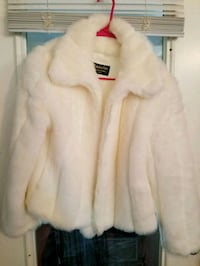 Fabulous Furs White Fur Coat With Matching Hat  Ecorse