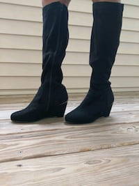 Black long boots. Size 8 Saratoga County, 12065