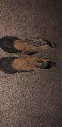 pair of brown leather work boots Jacksonville, 72076