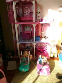 Barbie house barbies and alot more