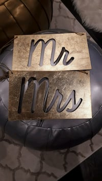 Mr and Mrs Gold Foil Chair Signs