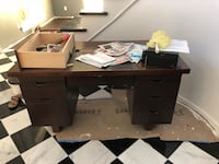 black wooden desk with drawer Beaumont, 77708
