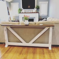 White and gray wooden sofa table Newington, 06111