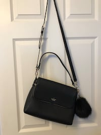 black leather 2-way bag OSHAWA