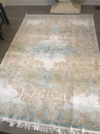 Brown and white floral area rug Bradford, L3Z