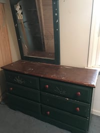 black-and-brown wooden dresser with mirror Niles city, 49120