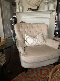 Beautiful Cream color Chenille chair Waldorf