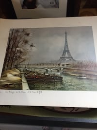 Print of the Eiffel Tower