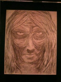 brown wooden framed painting of woman Calgary, T1Y 7M8