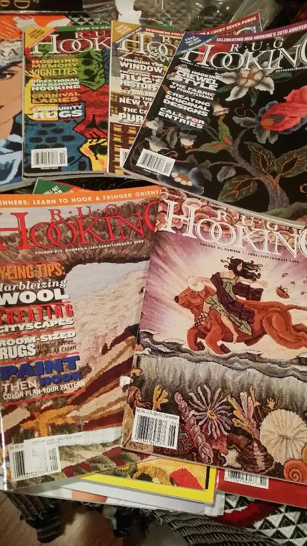 Used Rug Hooking Magazines For In