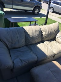 Couch love seat and autemen couch has a few tears on back of it from being moved other wise there are still in great shape. Down sizing and need to get rid of asking 200 obo  Beaumont, T4X 1V1