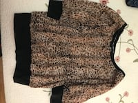 brown and black leopard crew-neck sweater Apple Valley, 92308