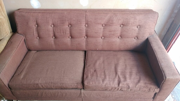 Pleasing Vintage Simmons Brown Sofa Bed Creativecarmelina Interior Chair Design Creativecarmelinacom