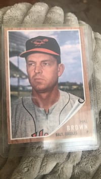 Hal Brown 1962 baseball card 20 km