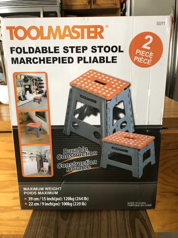 Magnificent Toolmaster 2Pk Folding Step Stool Onthecornerstone Fun Painted Chair Ideas Images Onthecornerstoneorg