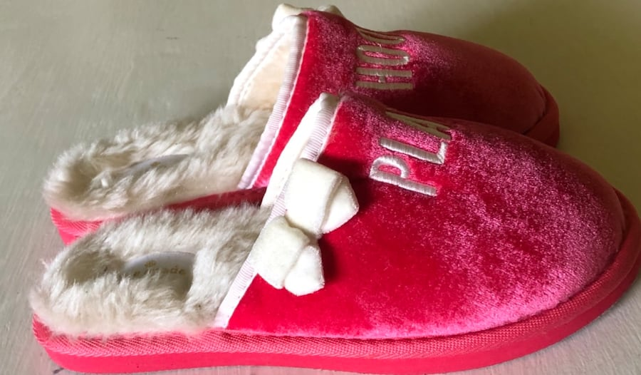 Kate Spade Slippers, Size 6 B, Pink, Play Hookie 97ef82a8-78a8-4e11-b0d7-effeab6552c2