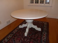 round white wooden pedestal table TORONTO