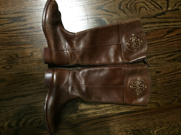 f3795f5ffca6 Used Authentic tory burch kiernan riding boot size 6.5 for sale in ...