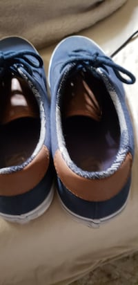 pair of blue-and-brown slip on shoes San Clemente