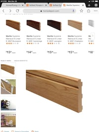 NEW Wainscot Baseboards - 8 boxes Finleyville, 15332