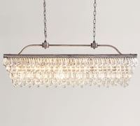 "Pottery Barn ""Clarissa Drop"" rectangular chandelier *new* *in box* *never opened* Austin"