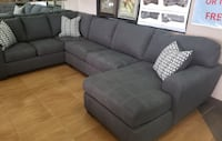 """Large Charcoal sectional """"pit group"""" Metairie"""