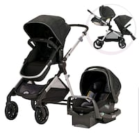 Evenflo Pivot Xpand Modular Travel System with SafeMax Infant Car Seat Montreal, H3X