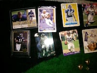 six assorted football trading cards West Memphis