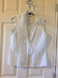 white button-up sleeveless shirt Macdonald, R0G 0A2