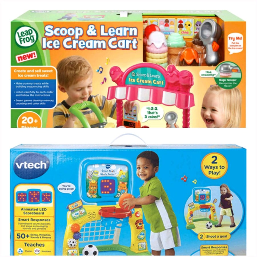 LeapFrog Icecream Set & Vtech Sport Centre Toys