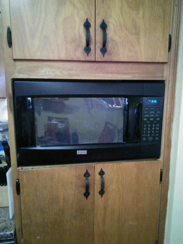 black and gray electric range oven