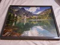 Framed Lake Picture  Langley