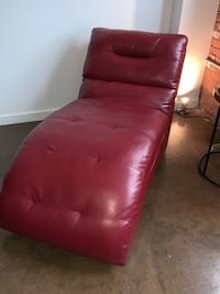 red leather tufted sofa chair Kansas City, 64108