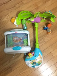 Crib mobiles - Vtech and Fisher Price