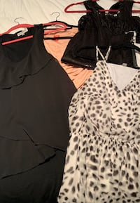 7 outfits $90! Dresses,pantsuit & Romper.Sm & XS.Guess & other brands.