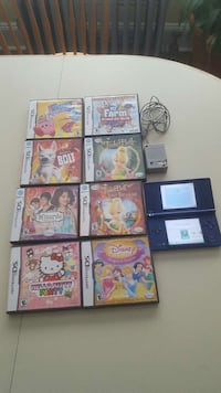 blue nintendo ds with assorted games Norwalk, 06854