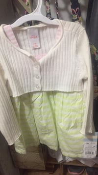 white and yellow stripe button up long sleeve shirt Summerfield, 34491