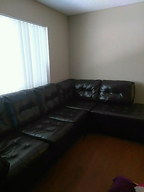 Miraculous Black Leather Sectional Sofa With Ottoman Machost Co Dining Chair Design Ideas Machostcouk