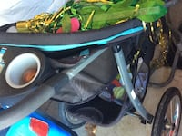 baby's black and blue stroller Lincoln, L0R