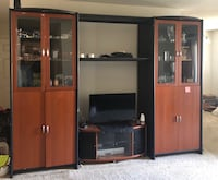 Brown wooden tv hutch with flat screen television Chesapeake, 23320