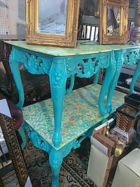 blue and white floral wooden table Greenwood, 29646