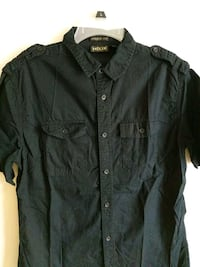 Black helix casual button-down shirt West Chicago, 60185