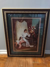 Brown wooden framed painting of woman Brampton, L6W 2R6
