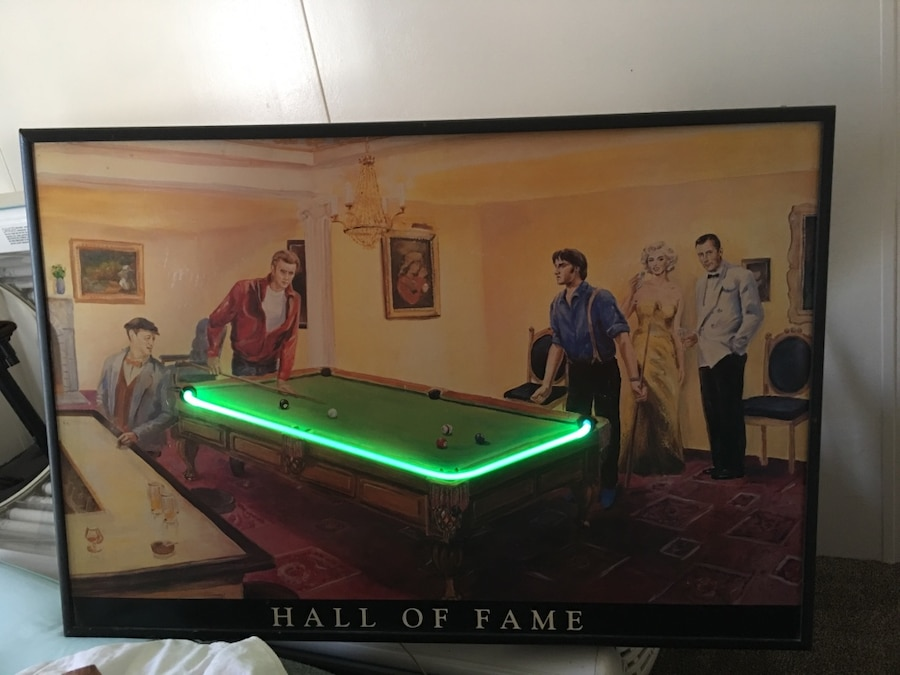 Used Elvis,marlyn,James Dean, And Other Pool Table Neon Pic In Richmond